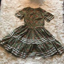 Vintage 1970s Gunne Sax Style Handmade Paisley Dress Size S/M