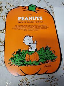 Vintage Hallmark The Peanuts Book of Pumpkin Carols Halloween Card Unused