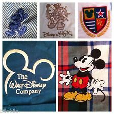 Mixed Lot 5 Disney Assorted Mens Small Size Embroidered Logo Cast Member Shirts