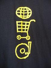 U2.Navy Blue.Cotton T-Shirt.New.sz L