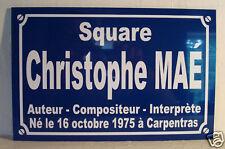 Plaque de rue christophe MAE  maé   19x29 neuf ALU