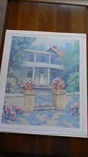 Completed Ben Zigan ColorArt Cross Stitch Manor Home Country Flowers 20x24 Jca