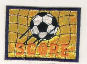 Jaune Football Objectif Broderie Patch