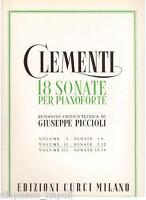 Clementi: 18 Sonate Für Klavier Volumen II N.7 - 12 (Piccioli) - Curci