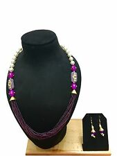 New Indian Ethnic Bollywood Style Bridal Wedding Fashion Jewelry Necklace Set