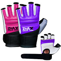 Ladies Leather Combat Gel Gloves Padded Martial Art Boxing Karate Gloves S-M