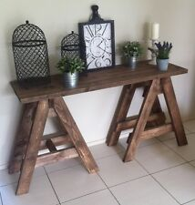 New Handmade Hall Table Solid Wood Rustic Provincial Hamptons Country Table