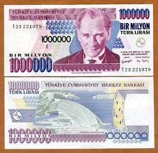 Turkey, 1,000,000 (1000000) Lira, L. 1970 (2002) P-213, UNC