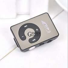 Mini Mirror Clip USB Digital Mp3 Music Player Support 16GB SD TF Card TXGT