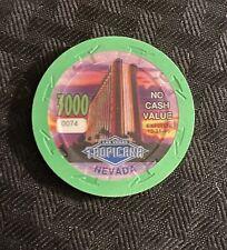 New listing Tropicana Hotel, Rare - Green $3000 Ncv Oversized Dated Casino Chip, Las Vegas