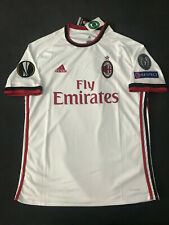 AC Milan Away White Jersey Europa League Patches Italian Shirt Medium