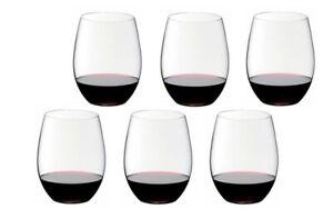 "6 Riedel ""O""  Cabernet/Merlot , Rotweingläser 0414/0, Wine Tumbler"