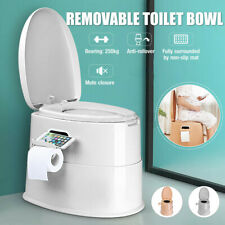 Commode Outdoor Bewegliches WC mit Paper Roll Holder Reisen Tragbare Toilette