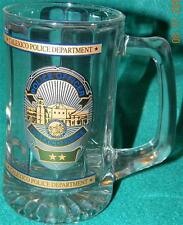 CALEXICO, CALIFORNIA, POLICE DEPARTMENT 12 OZ. GLASS BEER MUG