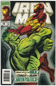 Iron Man #305 Newsstand Edition NM 9.4 versus The Hulk cover/story! 1994
