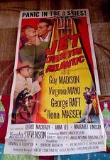 Jet Over the Atlantic 3sh Original Movie Poster GEORGE RAFT Virginia Mayo 1959