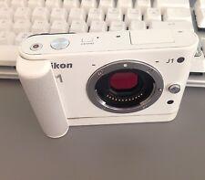 Nikon 1 J1 10.1 MP Digital Mirror less Camera - White (Body Only) w/ Accessories