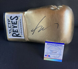 Ryan Garcia Signed Gold Cleto Reyes Boxing Glove Autographed Auto + PSA DNA COA