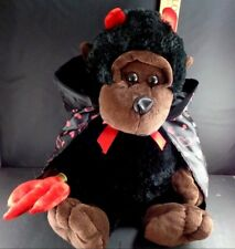Valentine Large Black Monkey Devil Horn Cape Plush Stuffed Animal Toy Gorilla