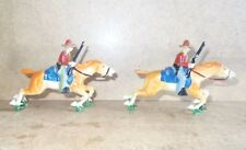 Anciens plombs creux BF France - 2 cavaliers COWBOYS cow boy - 30/40s