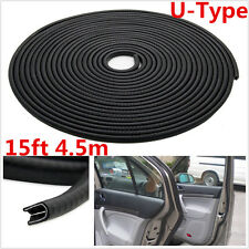 4.5M U Shape Car Door Window Trim Edge Mouldings Rubber Weatherstrip Seal Strip