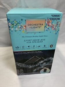 Gemmy Orchestra of Lights Holiday Lightshow Music 6 Outlet Show Box W Speaker B2