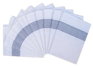 100% Cotton Catering Tea Towels Pack of 10 Kitchen Restaurant Glass Cloths