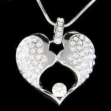 w Swarovski Crystal Mother Love Baby Child Husband Men Wife Lover Heart Necklace