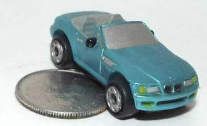 Small Micro Machine BMW Convertible in Blue with a Gray Interior