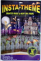 Halloween Decoration Scene Setter Insta-Theme Haunted House and Night Sky Props
