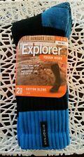 NEW 3 X 2 Pack, 6 pairs Explorer Tough Work Socks Blue size 11-14 Crew