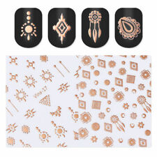 Metallic Rose Gold Dreamcatcher Pattern 3D Nail Art Adhesive Transfer Stickers