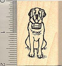 St. Bernard dog Rubber Stamp Wood Mounted D8308 saint