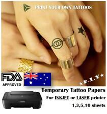 A4 DIY, TEMPORARY TATTOO PAPERS -  / AUSPOST / Print your own tattoos / Kids Fun