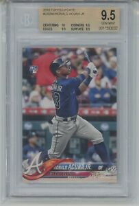 2018 Topps Update Ronald Acuna Jr US250 RC Braves BGS 9.5 GEM MINT +