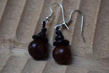 Earrings Dangly Clearance Unbranded Brown Tagua Nut