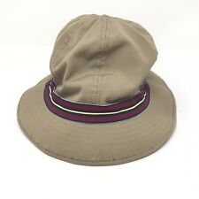 4ca2bf65ca219 VTG Brooks Brothers Mens Small Khaki Green Bucket Hat Red Blue Band B9B