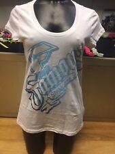 Famous Stars & Straps Women's White Logo Short Sleeve T-shirt / S - 2509/r