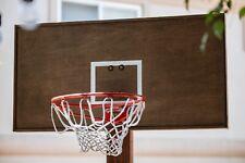 25� X 49� Handmade Wooden Brown Basketball Backboard W/ Hoop Nba sports Outdoor