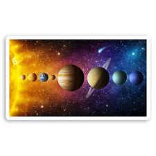 2 x 10cm Solar System Planets Vinyl Stickers - Space Sun Laptop Sticker #20754