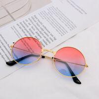 Fashion Round Lens Metal Frame Sunglasses Vintage Womens Men Shades Unisex UV400