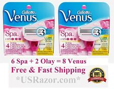8 Gillette Venus Breeze 6 Spa 2 Olay Razor Blades Cartridges Fit Embrace Shaver