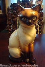 "Goebel large Siamese Cat Porcelain Figure, 11"" tall"