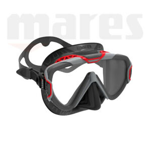 Mares Pure Wire Mask ~ Black Skirt / Red Frame