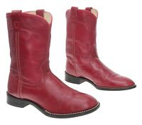 ACME Cowboy Boots 3 D Kids Youth RED Leather WESTERN Rodeo Roper Show Boots USA