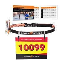 Sport2People Ultra Running Race Belt Runners - Triathlon Number Belt Gel Loops
