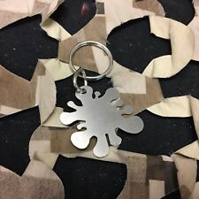 New Rufus Dawg Splat Key Chain - Stainless Steel