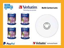 ($0 p&h) Carton lots DVD+R 4.7GB  Verbatim 4 x 100Pk White InkJet 16x pn 95145