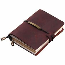 Handmade Traveler's Notebook, Leather Travel Journal Notebook for Men & Wom G0H6