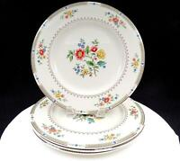 "ROYAL DOULTON #TC115 KINGSWOOD FLOWERS & LAUREL 4 PCE 10 5/8"" DINNER PLATES"